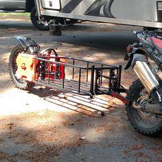 motomule cargo trailer motorcycle single wheel monowheel