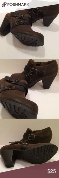 Nicole Super cute crop boots, brown. New, never worn. Perfect condition. Price is firm! Nicole Shoes Ankle Boots & Booties