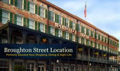 Marshall House - cool place to stay in Savannah, GA.  Get a balcony room!