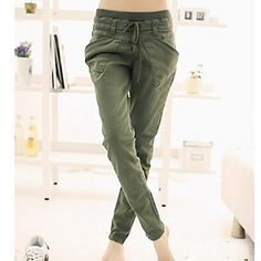 Women's Fashion Big Pocket Pants. For comfy and fashion! See more options if you click it!