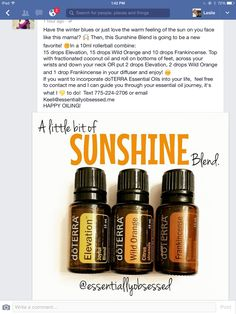 Essential Oils Sunshine Blend