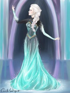 "Elsa - Dress Transformation by CamiiW.deviantart.com on @deviantART - From ""Frozen"""