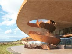 The terra-cotta bricks used to build Cantina Antinori match the earthy tones of the Tuscan hillside.
