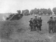 WW1 tanks - Messines 7th June 1917.