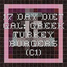 17 Day Diet Gal: Greek Turkey Burgers (C1)