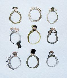 Beautiful renderings  Rings n' art n' stuff - Bridget Davies