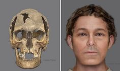 Poorly preserved skeleton found near the dockyard at Newhaven may be the remains of a 16th/17th century man executed on the gibbet known to be there - for piracy or witchcraft. Here's his reconstructed face