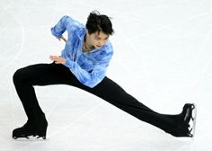 Yuzuru Hanyu of Japan performs during the men's short program of at Sochi.