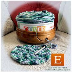Time for some BIG Fun with #coverstoryyarn from #LionBrandYarn –lets see if i can turn this into a cool #crocheted #rug #yarn #knit #crochet #wip #JumboYarnBowl HeckathornTurnedWood.Etsy.com Jumbo Yarn, Fibonacci Spiral, Rug Yarn, Yarn Bowl, Lion Brand Yarn, Yarn Projects, Wooden Bowls, Knit Crochet, Cherry