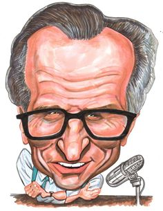Larry King #Caricature #FunnyFaces