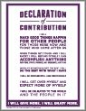 Declaration of Contribution...want to be reminded daily of your contribution to life.