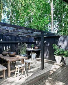 Outdoor Life, Outdoor Rooms, Outdoor Living, Outdoor Decor, Pergola Patio, Backyard Landscaping, Back Gardens, Outdoor Gardens, Patio Design