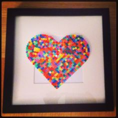 Heart of colors perler beads by thalgun