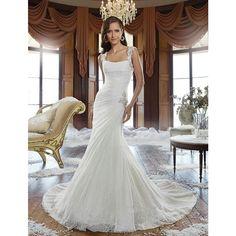 Lace Mermaid Wedding Dresses Designer Wedding Gowns Elegant Lace Up Back  Bridal Dresses vestido de novia c2306b3c08bc