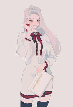 Manga Kawaii, Kawaii Anime Girl, Anime Art Girl, Manga Girl, Anime Girls, Female Character Design, Character Design Inspiration, Character Art, Korean Anime