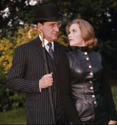 The Avengers - Patrick Macnee and Honor Blackman.  She preceded Diana Rigg.  It's nice to see a color photo of the two.