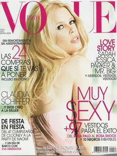 SPANISH VOGUE - JULY 2008 COVER MODEL - CLAUDIA SCHIFFER