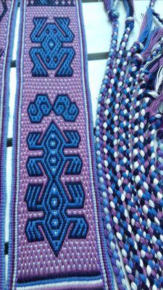 Pebble-Weave-Double-Weave-Tabletweaving four colors Gemaakt door: Loes Meijer