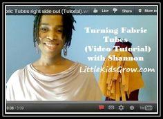 Turning Fabric Tubes Mini Video Tute