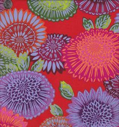 Phillip Jacobs Lacy Floral in Warm by quiltsandwich on Etsy, $9.00