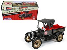 "1918 Ford Model T Runabout ""Texaco"" 2nd in the USA Series 1/25 Diecast Model Car by Autoworld - Brand new 1:25 scale diecast model car of 1918 Ford Model T Runabout ""Texaco"" 2nd in the USA Series die cast model by Autoworld. Since their inception, Texaco has had a multitude of cars and trucks in their fleet. These were everything from traveling salesman cars and specialty service vehicles, to the many trucks proudly painted in colorful Texaco advertising. The U.S.A. Series is the all-new…"