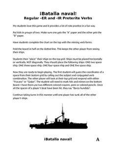 Spanish ER IR Present Tense Verb Drawing Worksheet | Worksheets ...