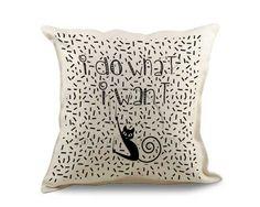 Cuscino in juta con gattino nero
