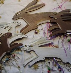 By Artist Karen Davis, Moonlight and Hares