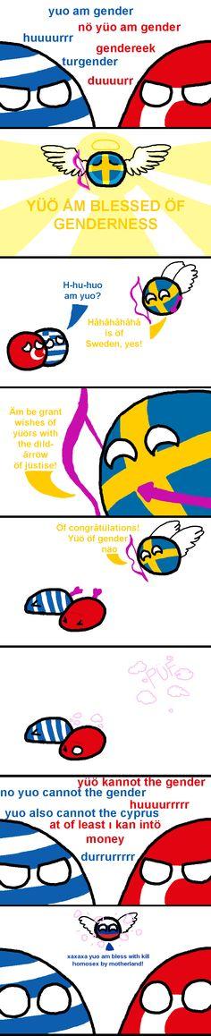 Valentine Wishes ( Greece, Turkey, Sweden, Russia ) by grawrencer  #polandball #countryball