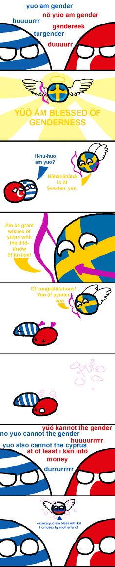 Valentine Wishes ( Greece, Turkey, Sweden, Russia ) by grawrencer  #polandball #countryball