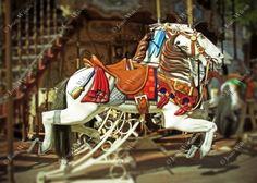 Choose Style! Carousel Horses Paris France at Sacre Coeur Montmartre Tassels Mane Fine Art Photography Photo Print
