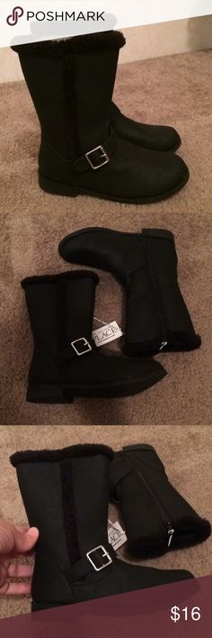 "$13 girls black zip up boots 13 NWT! ✔The price in the beginning of the title of my listings is the bundle price. These prices are valid through the ""make an offer"" feature after you create a bundle. These bundle orders must be over $15. Ask me about more details if interested.  ❌No trades ❌No holds Children's Place Shoes Boots"