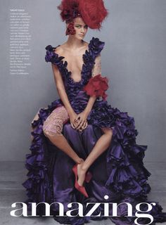 Lovely  Amazing | Vogue US November 2002 Carolyn Murphy by Steven Klein Christian Lacroix | Fall 2002 Couture