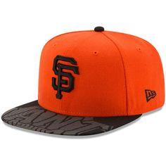 new arrival 29969 d802b San Francisco Giants New Era Front Flect Logo Snap 9FIFTY Adjustable Hat -  Orange Black