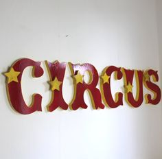 large wooden letters circus circus circus word by mylittledecor