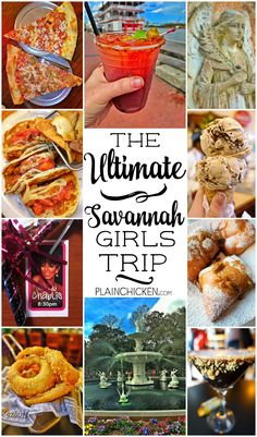 Girlfriend getaways: The Ultimate Savannah Girls Trip - where to eat, where to drink and what to do! We had the BEST time ever on this trip. Savannah is such a fun town! Don't miss this guide to planning your next trip! Visit Savannah, Savannah Chat, Savannah Georgia Food, Girls Time, Girls Weekend, Girlfriends Getaway, Ga In, Bachelorette Weekend, Bachelorette Parties