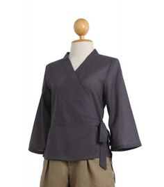 The wrap cotton top will emphasize your perfect with the small waist band in the front, combined with the adjustable drawstring belt on the back. This very elegant top will fit nicely on your waist!