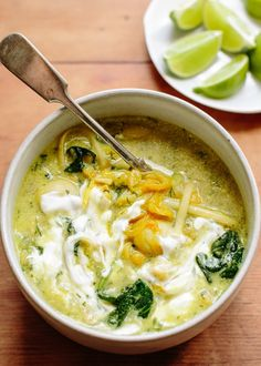 Take this Persian-inspired soup, for instance, packed with chickpeas, lima beans, and noodles, and with healthy dose of sunny turmeric and tangy lime.
