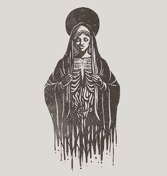 Something new for 2017 #art #design #screenprint #blackandwhite #illustration #witch #cult #occult #tattoo #devil #satan #metal #graphicdesign #diy #create #ink #black