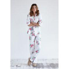 Vintage Rose Pyjamas in White/Pink Print from hush Best Pajamas, Silk Pajamas, Flannel Pajamas, Sleepwear & Loungewear, Nightwear, Love Fashion, Fashion Beauty, Fashion Outfits, Lounge Outfit