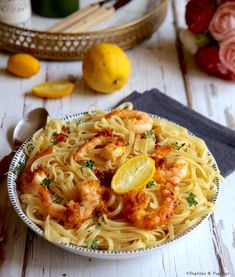 Pâtes aux crevettes croustillantes : simple et délicieux