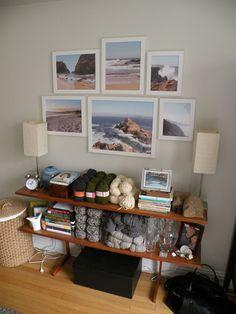 Framed beach photos