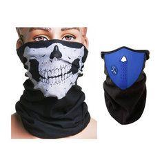 #Banggood Мотоцикл шеи лыж теплая маска синий и череп лицо маска шарф (909945) #SuperDeals