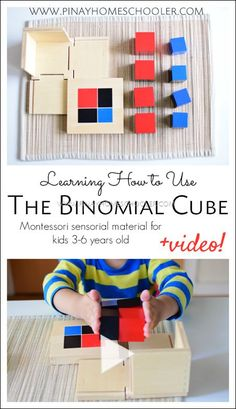Learning how to use the Montessori Binomial Cube with video demonstration