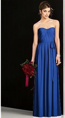 Indigo bridesmaid dress. Simple. Perfect.