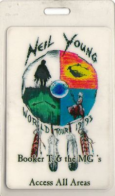 pieceofthesky:  A backstage pass for Neil Young's 1993 tour with Booker T. & The MG's as his backing band.