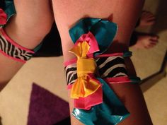 Duck tape bracelet with bow