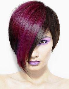 Brown/purple bob