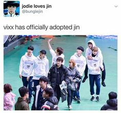 Ken and Jin .. I love seeing friendships between groups.. they always seem supportive to each other.. love the lack of rivalry and drama..