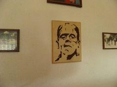 #Frankenstein #Portrait aus #Holz #Deko